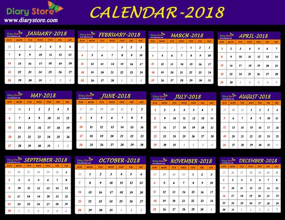 year 2018 calendar all countries holidays list global holidays diary store. Black Bedroom Furniture Sets. Home Design Ideas