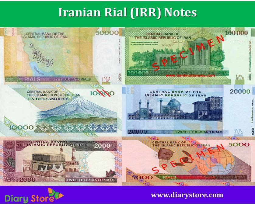 Iranian Rial Currency Iran Notes Coins Diary