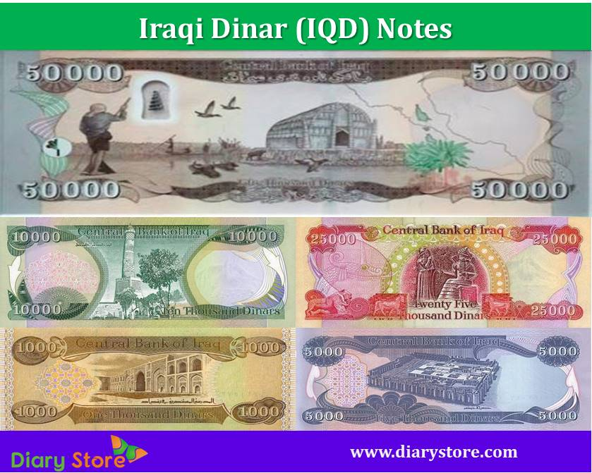 Iraqi Dinar Currency Iraq Notes Coins Diary