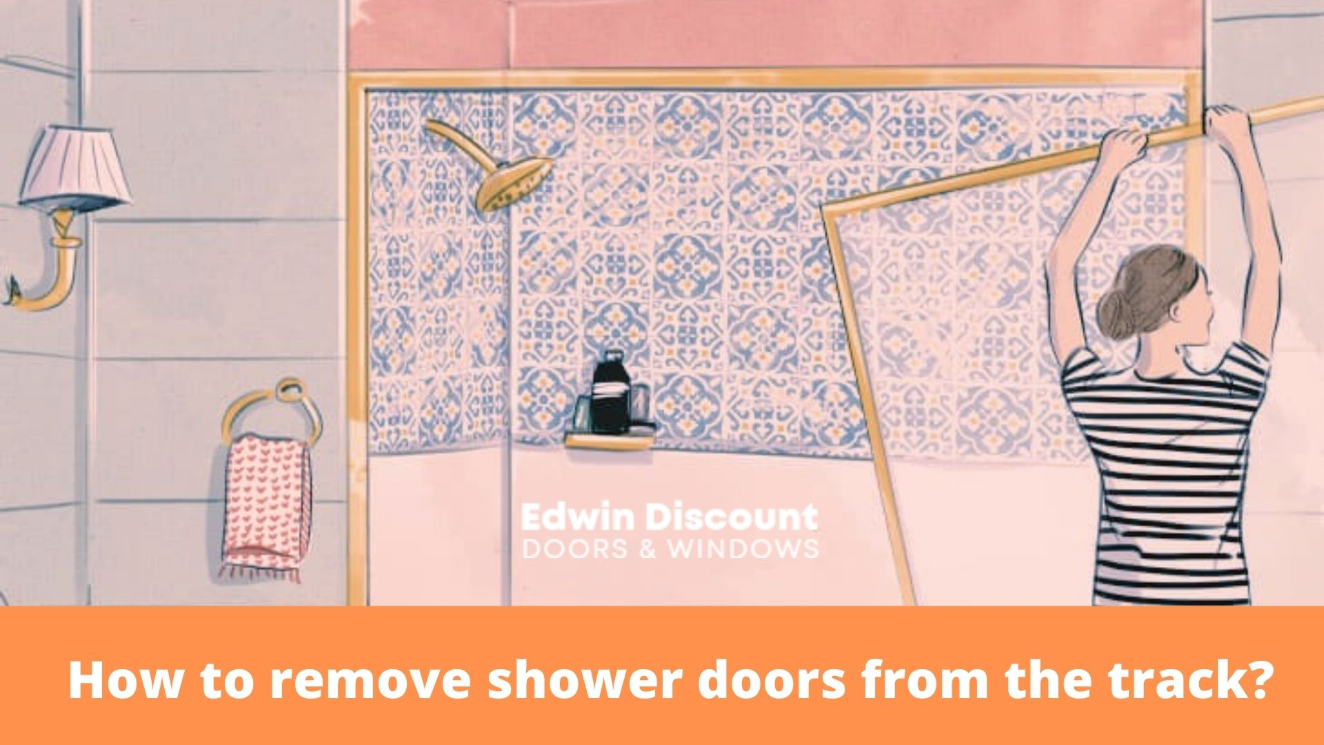 shower doors from the track