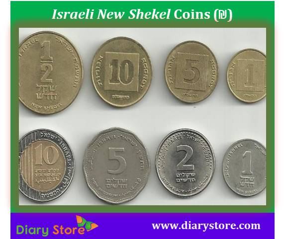 Israeli New Shekel Currency Israel Notes Diary