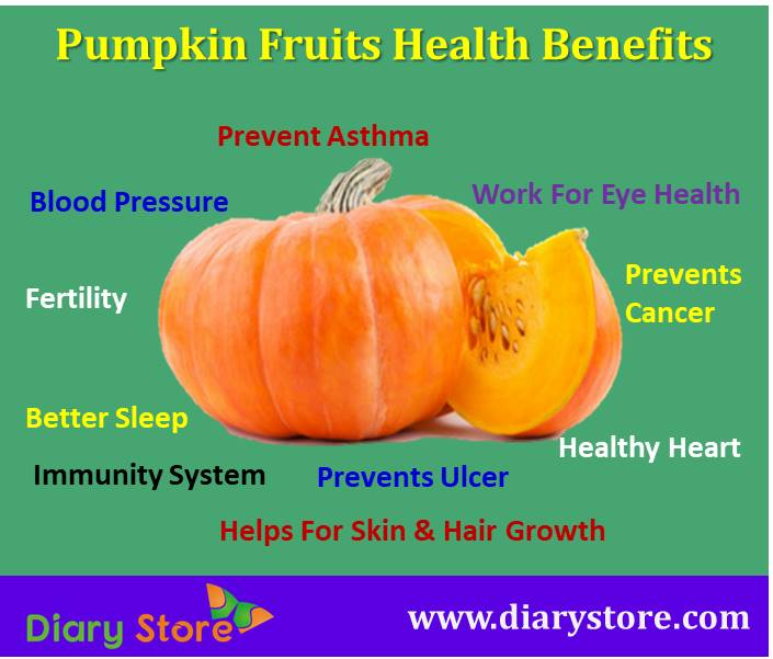 Pumpkin Fruit Health Benefits Nutritional Facts | Diary Store